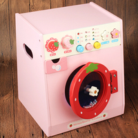 Wooden toy washing machine toy simulation home appliance toy