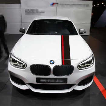 For-BMW 1/2/3/4/5/6/7 series F10 F20 F30 F15 F16 F34 F25 F26 E84 M3 M4 M5 Auto Hood Bonnet Stripes Carbon Fiber Sport Sticker image