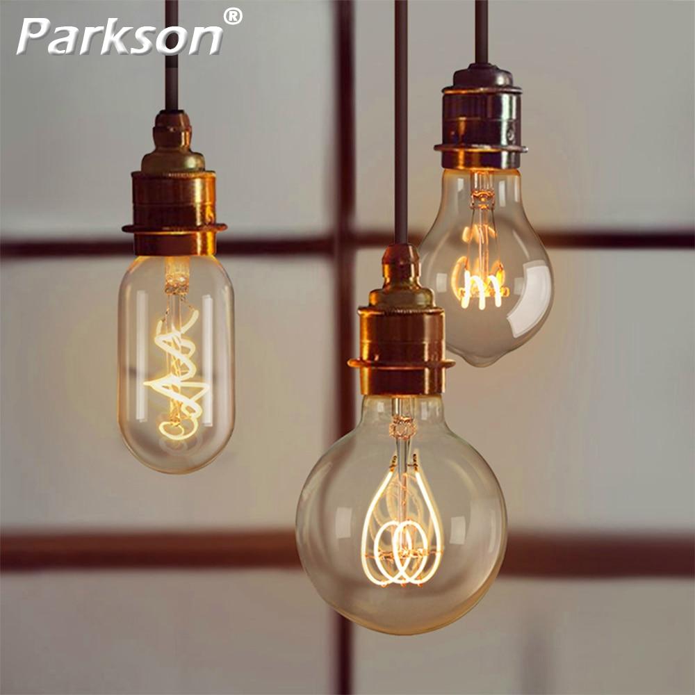 Retro Edison LED Bulb 4W 220V E27 A60 G80 G95 ST64 T185 T45 Ampoule Vintage Bulb Edison Lamp Replace Incandescent Light Bulb