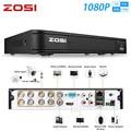 Видеорегистратор ZOSI 1080P, 8 каналов, 8 каналов, AHD, CVI, TVI, CVBS, DVR, 1920*1080, 2 МП, CCTV, гибридная камера, система безопасности