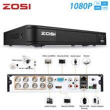 ZOSI – enregistreur vidéo CCTV hybride 1080P, 8 canaux, 8 canaux, AHD, CVI, TVI, CVBS, DVR, 1920x1080, 2mp, système de sécurité