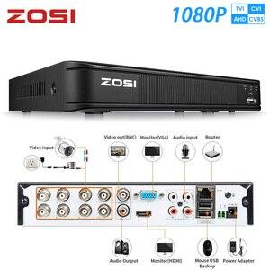 Image 1 - ZOSI 1080P 8 قناة TVI DVR 8CH AHD CVI TVI CVBS DVR 1920*1080 2MP CCTV مسجل فيديو الهجين DVR نظام الأمن فيديكام