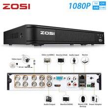 ZOSI 1080P 8 kanal TVI DVR 8CH AHD CVI TVI CVBS DVR 1920*1080 2MP CCTV Video kaydedici hibrid DVR videcam güvenlik sistemi