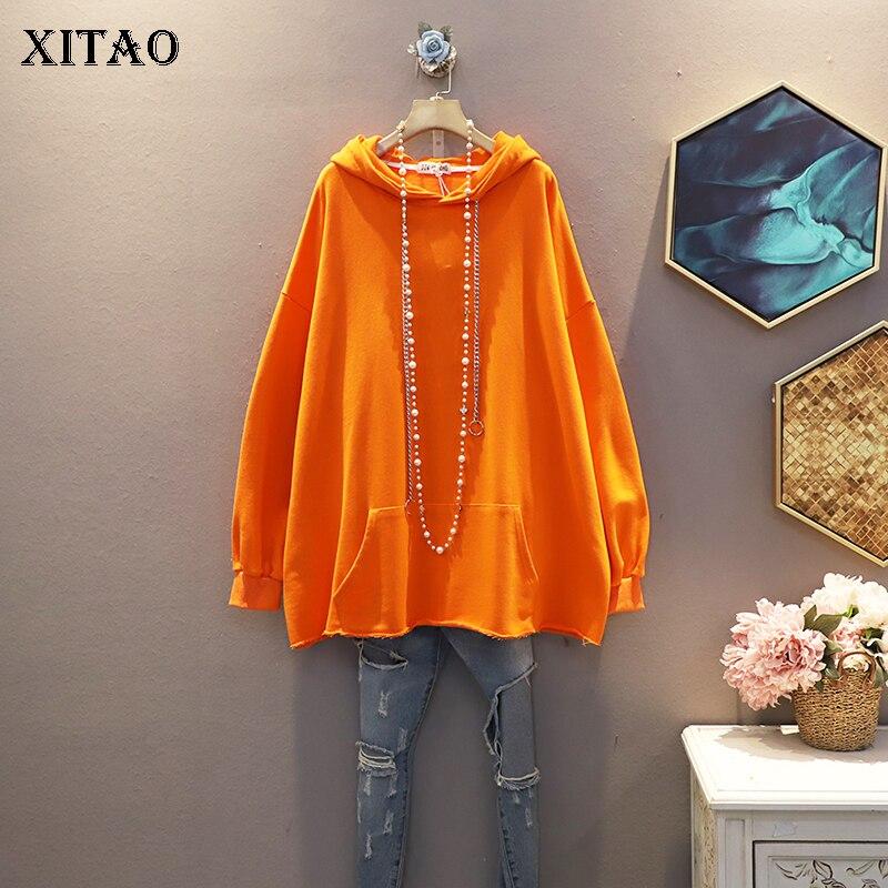 XITAO Korean Style Leisure Trend Sweatshirt Women Fashion Wild Loose Plus Size Hoodies Women Autumn Women Clothes 2020 WJ1063 1
