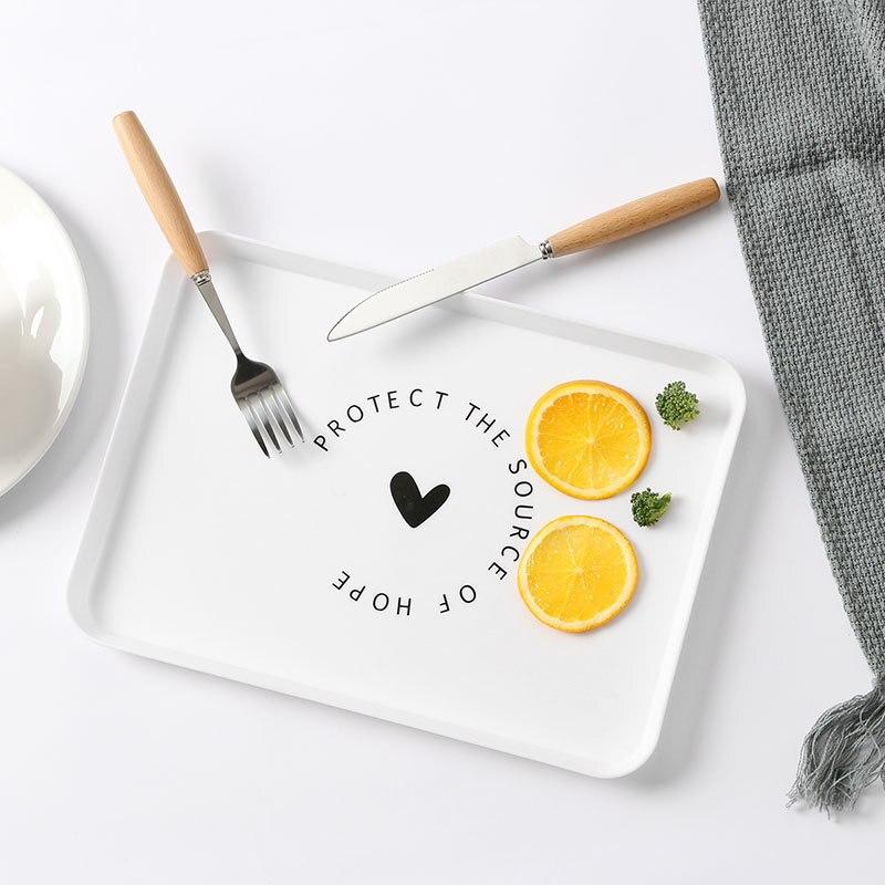 Пластиковый поднос для еды, поднос для чая, завтрака, хлеба, тарелки для хранения, квадратные тарелки для косметики, тарелки, блюдо, 1 шт.-4