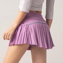 Tennis-Skirts Skort Sports Pocket-Fitness-Shorts Pleated Women Mini Summer Athletic Female