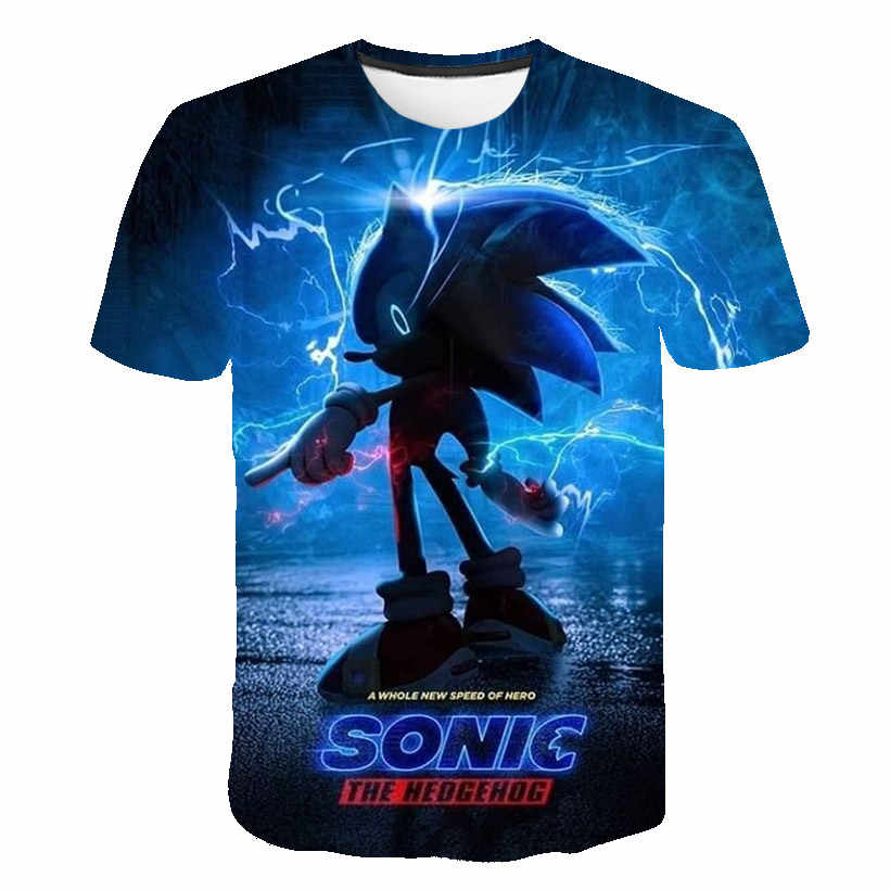 Sonic The Hedgehog T Shirt Printing Cartoon Children S Clothing 2020 Summer New Boy And Girl T Shirt 4 14 Years Old Aliexpress