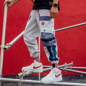 Hiphopowy sweter do biegania spodnie do biegania spodnie do biegania spodnie do biegania spodnie do biegania tanie i dobre opinie NANZE Cargo pants COTTON Midweight 1 - 100 Pełnej długości Suknem REGULAR W stylu Safari Mieszkanie Zipper fly