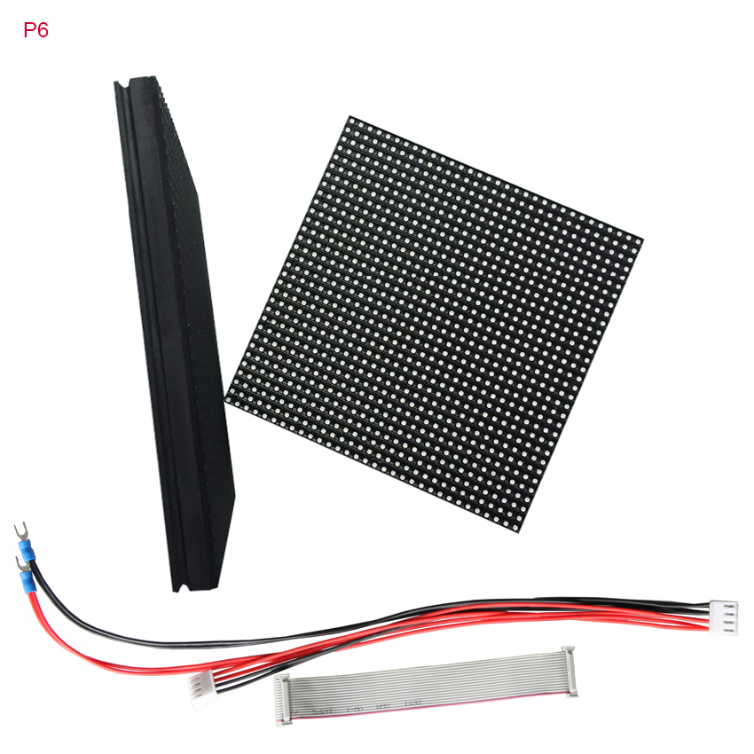 64pcs P6 Outdoor Full Color Led Module 192*192mm 32x32dots 1/8scan Led Matrix Rgb Led Panel For Led Display Pantalla