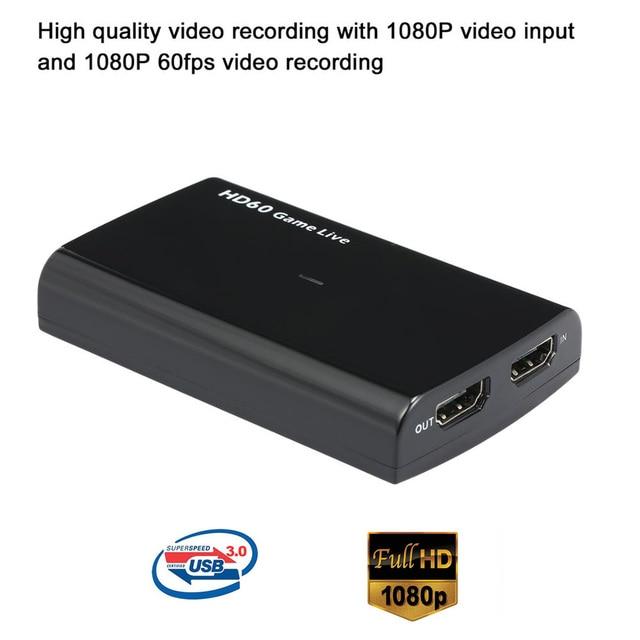 Ezcap170/261M/265/271/266 HD Capture vidéo 1080P jeu en direct Streaming HD convertisseur vidéo prise en charge 4K entrée vidéo pour XBOX One PS4