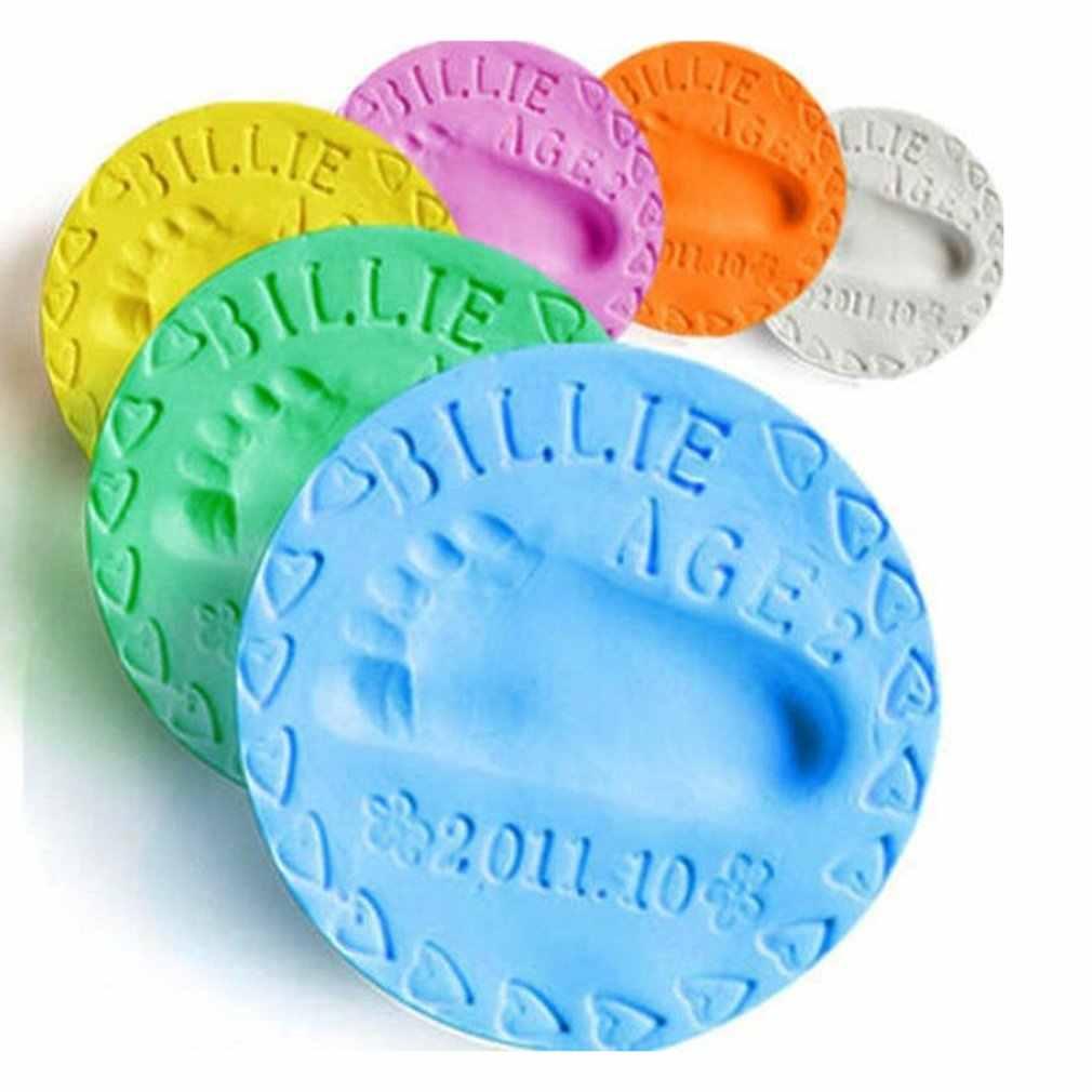 Baby Handprint Footprint Mud Safe Newborn Baby Souvenirs Hand Foot Print Maker Keepsake Soft Clay Toy