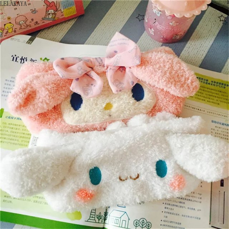 My Melody Cinnamoroll Dog Plush Hairband Headband For Girls Cartoon Cute Face Washing Clean Makeup Tool Hair Band Accessories