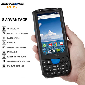 Rugged PDA Android 8.1 Handheld PDA POS Terminal Support GPS Wifi Bluetooth 4G Mobile 1D 2D QR Barcode Reader Data collector mobile computer wireless high frequency scan 2d barcode reader gsm gprs gps bt fdd lte 4g wifi