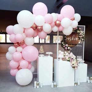 Image 2 - 101 DIY balonlar Garland kemer seti gül altın pembe için beyaz balon bebek duş gelin duş düğün doğum günü partisi süslemeleri