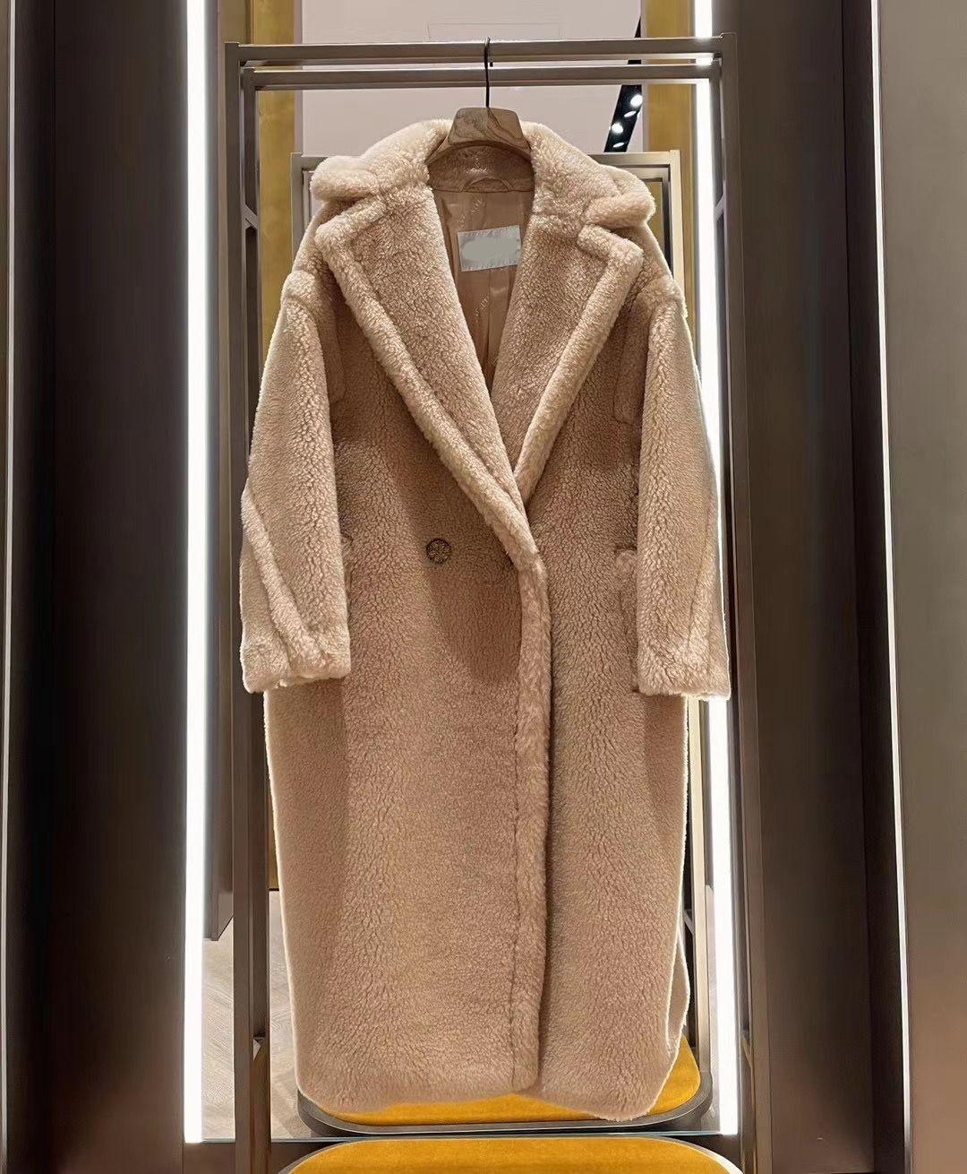 2021 najnowszy miś kolor Albino camel teddy pogrubiona wełna płaszcz wanilia niebieski piasek brązowy są w magazynie
