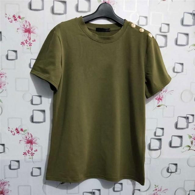 100% Cotton Women Cotton Shirts Summer Letter T-Shirt Female Short Sleeve Tees Ladies Casual Tops O Neck Harajuku Shirt 5