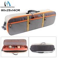 Maximumcatch Fishing Travel Case Adjustable Waterproof Fly Fishing Bag Sling Bag Fishing Pack 80x25x14cm