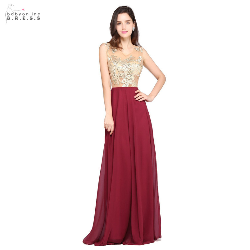 Sexy Illusion Burgundy Lace   Prom     Dresses   Long Fast Shipping O-neck A-line   Prom   Gowns Beadings Backless Vestido de Festa Longo