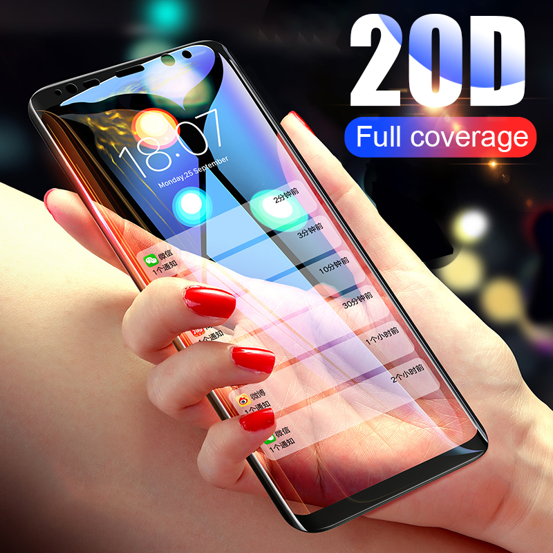 20D Full Cover Tempered Glass For Samsung Galaxy S7 S8 S9 Plus Note 10 9 8 Screen Protector For Samsung  A6 A8 PLus 2018 Glass