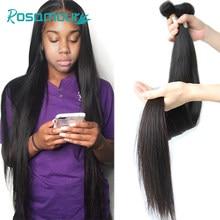 Rosamour feixes de tecer cabelo brasileiro remy extensões do cabelo cor natural 28 30 32 40 Polegada pacotes de cabelo humano em linha reta virgem cru