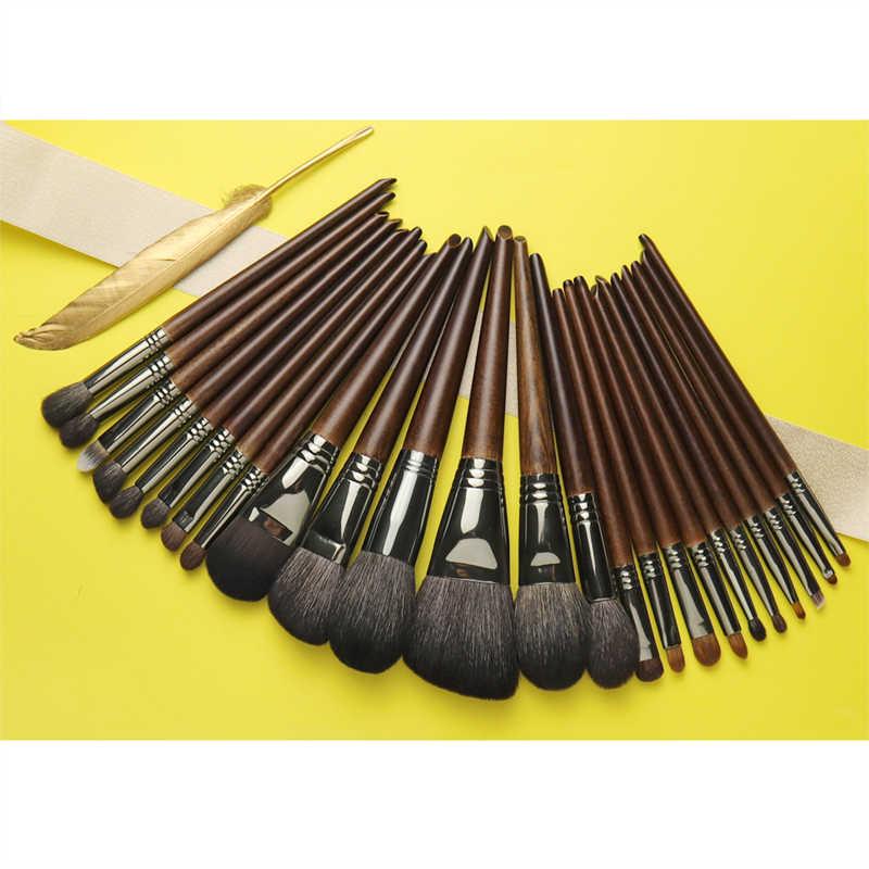 OVW naturalne kozie układanie włosów zestaw pędzelków profesjonalny zestaw brocha maquillaje pedzle do makijazu mieszanie smużenie szczotka shader