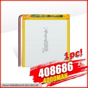 For power bank,speaker dvr,GPS,mp3,mp4,DVD 4000 mah 3.7 V 408686 smart home MP3 speakers Li-ion Polymer battery battery