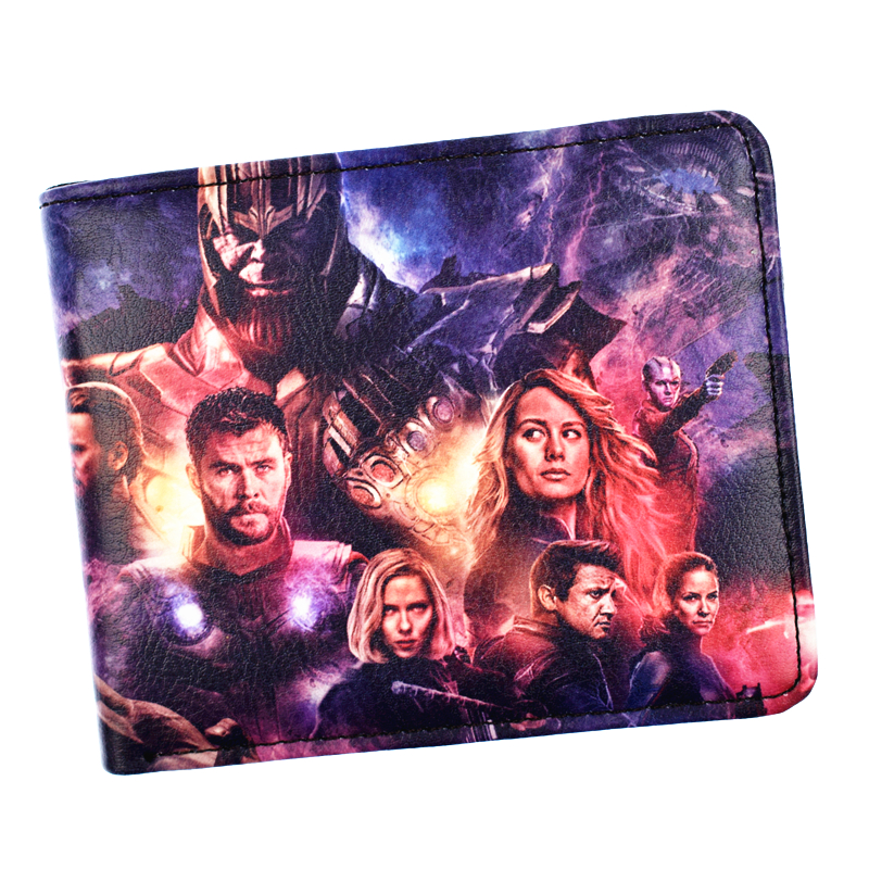 FVIP Marvel Wallet Avengers High Quality PU Short Men's Purse Boy's Coin Purses