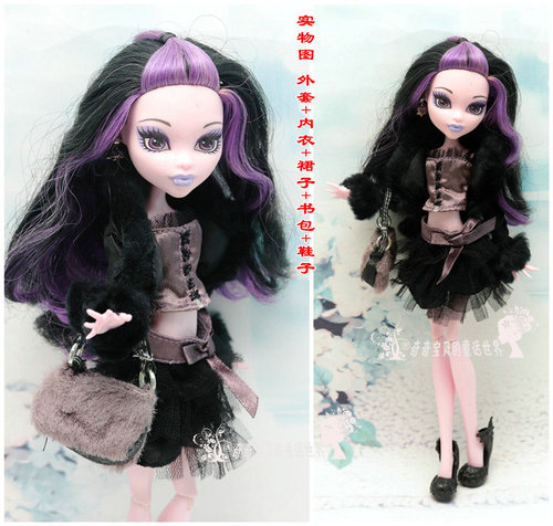 Monstering High Doll Clothes Handmade Outfit Soft Personality Doll Dress Jacket Skirt Doll Clothing Set Quality Doll Clothes 11