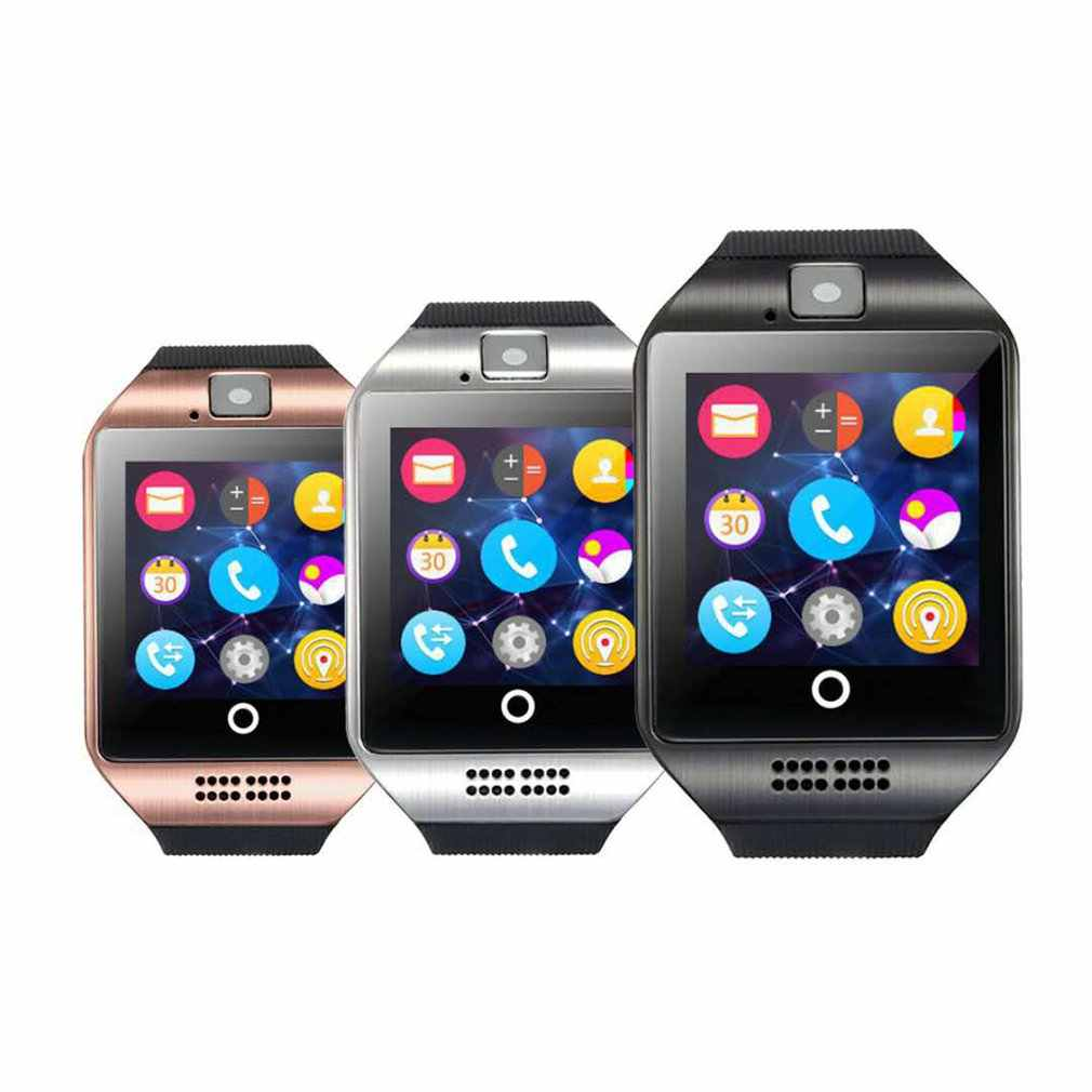 Bluetooth Smart Horloge Q18 Met Camera Facebook Whatsapp Twitter Sync SMS Smartwatch Ondersteuning SIM TF Card Voor IOS Android