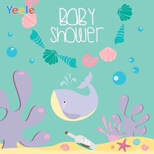 Yeele Baby Shower Photocall Undersea Whale Corals Photography Backdrops Personalized Photographic Background For Photo Studio