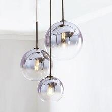 Скандинавский светодиодный подвесной светильник из серебристого