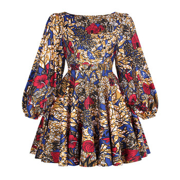 African Dashiki Print Dress Women 2021 Fashion Party African Maxi Dress Women African Clothes Long Sleeve African Dresses Women - FQII004, S
