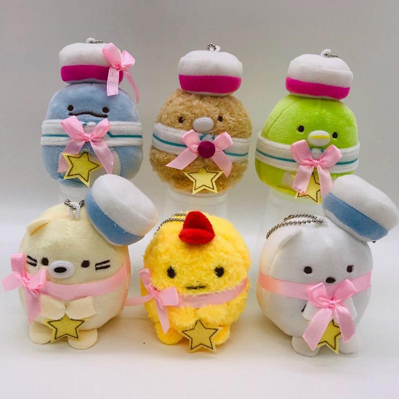 Cute Keychain Plush-Pendant-Bag Sumikko Gurashi Kawaii Animal Stuffed 10cm Decor Peluches-Toys
