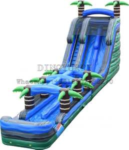 Inflatable Slide Outdoor Giant with Slip Tropical Double-Water-Slide Jungle-Design