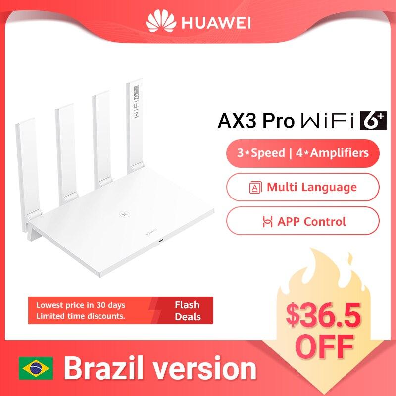 Глобальная версия HUAWEI WiFi AX3 Pro Quad Core WiFi 6 + беспроводной маршрутизатор WiFi 5 ГГц ретранслятор 3000 Мбит/с усилитель NFC легкая настройка