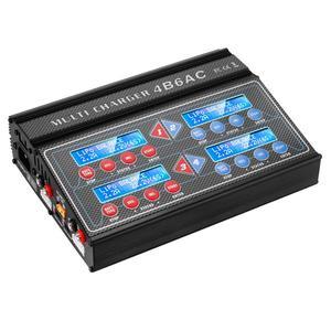 Image 2 - HTRC プロ Rc バッテリーバランス充電器 4B6AC クワトロ B6AC 6A 80 ワット * 4 放電 1 6s リポ/ライオン/寿命バッテリー充電器