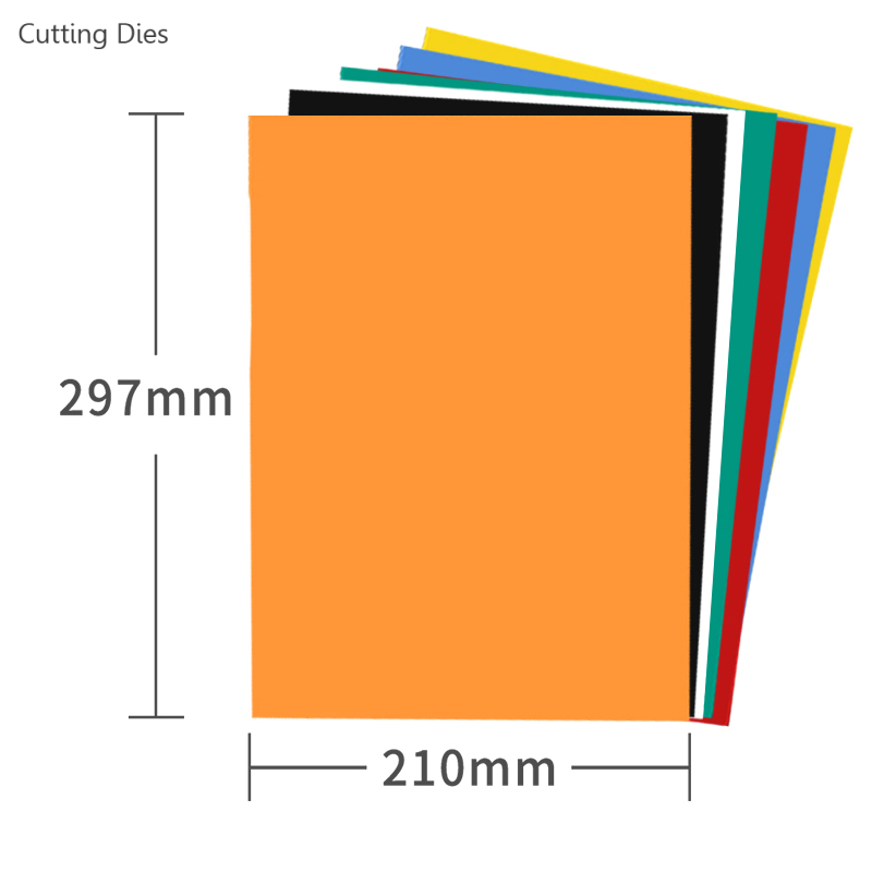 2019 Colorful 297x210mm Cutting Dies Storage Magnetic A4 Sheets Vent Cover Cardmaking Stamp Die Storage