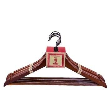 Cintres antidérapants en bois 10 pièces de long | Support de garde-robe en bois pour vêtements, cintres antidérapants