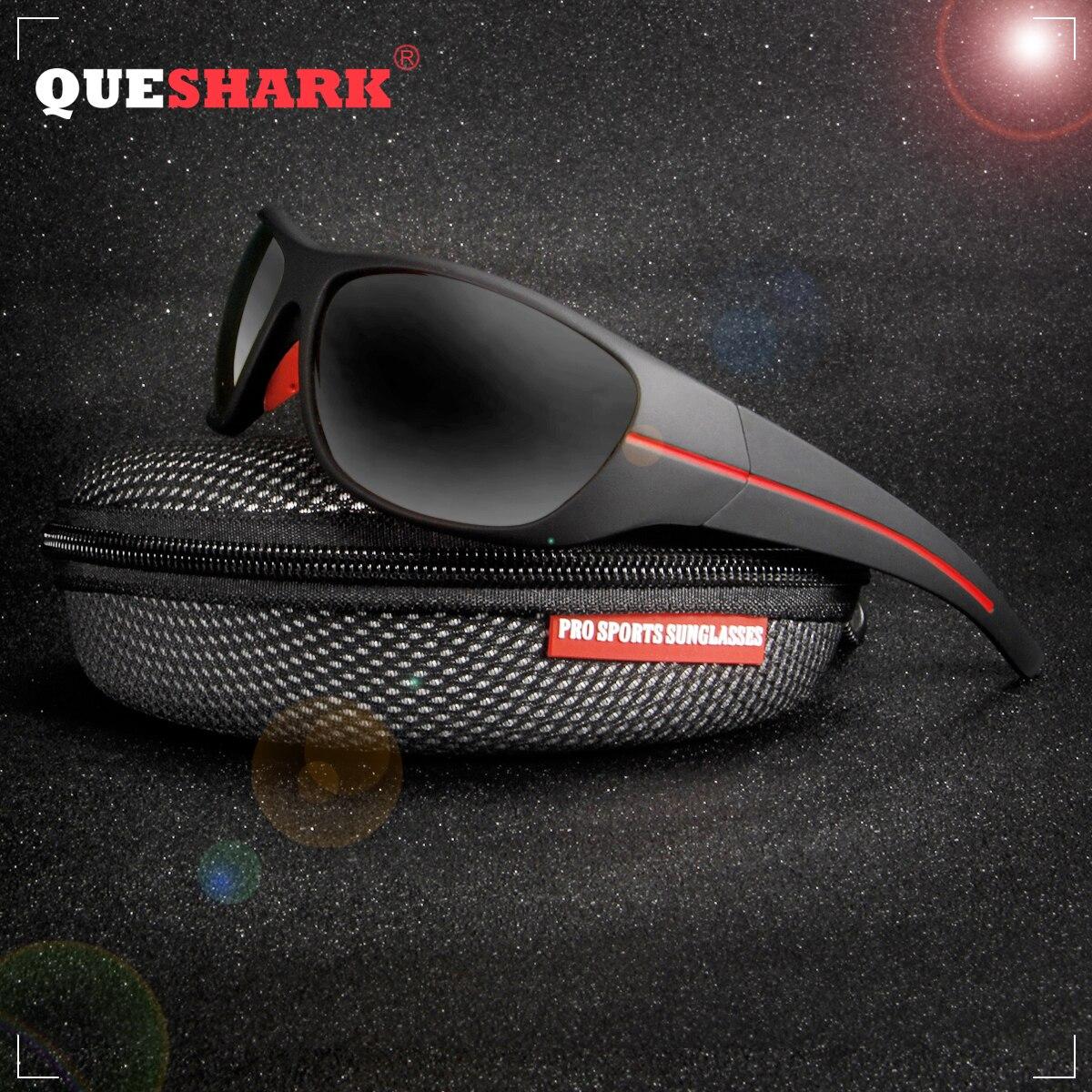 QUESHARK TR90 Frame HD Polarized Sunglasses Pro Fishing Eyewear Glasses For Men Women Hiking Running Golf Outdoor Sport
