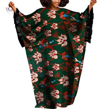 2020 African Dresses For Women Autumn Long Sleeve Dashiki African Print Clothing Plus Size Christmas Dress 5xl WY4974