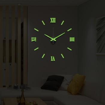 50cm 3D Wall Clock Modern Design DIY Acrylic Mirror Stickers Clock for Living Room Bedroom Home Decor Large Silent Elreloj Mural 12