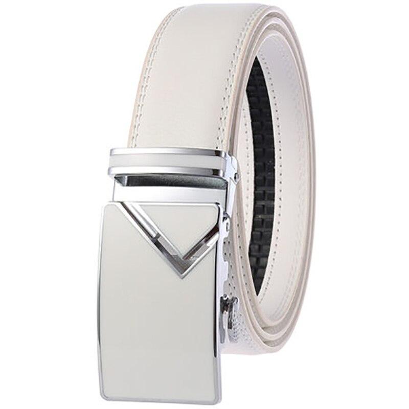 160cm Big Size Genuine Leather Belts Belt Plus Size Belt For Men Real Leather Automatic Buckle Jeans Long Waist Strap Belt
