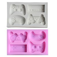 2pcs Game Controller Mold Silicone for Candy, Chocolate, Cake Decoration, Resin, Clay
