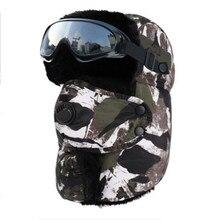 Chapeau chaud pour hommes et femmes, casquette à capuche étanche, avec lunettes, cagoule chaude, nouvelle collection 2020