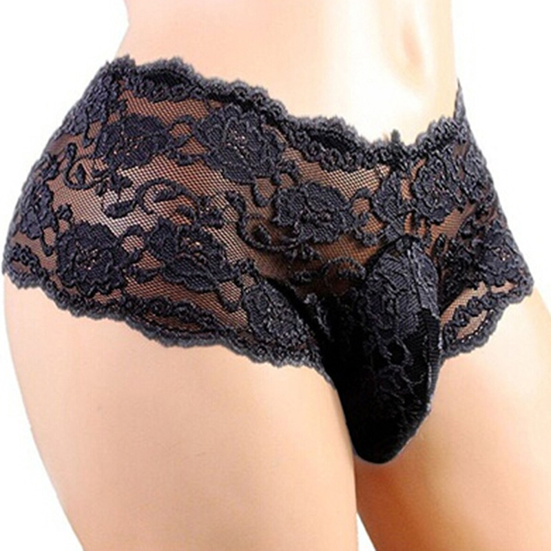 New Tracksuit For Men's Underwear Sexy Lace Thong T Transparent Panties Breathable Pants Men's Taste G-Strings & Thong Man Brief