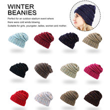 For Women Girl S Hat Knitted Female Ball WomenS Beanies Cap lady warm Winter Thick
