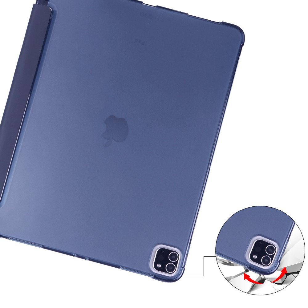 Apple For 12 Holder Case Shell with Pencil Cover for iPad 2020 2018 iPad Pro Soft TPU 9