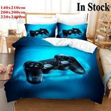 Пользовательский 3D геймпад для мальчиков, набор постельного белья для геймеров, пододеяльник для видеоигр для подростков, современный игро...