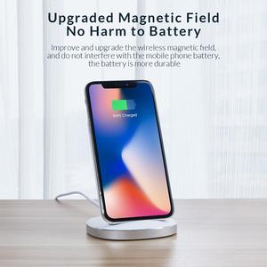 Image 5 - ORICO Qi Wireless Charger Stand for iPhone 11 Pro X XS 8 XR Samsung S9 S10 S8 S10E Fast Wireless Charging Station ZMCL01 BK