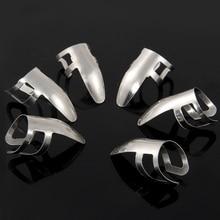 6 шт. нержавеющая сталь палец защитный палец выбирает защита палец для гитары банджо Гавайские гитары укулеле серебро